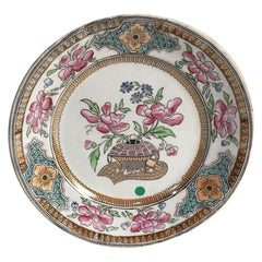 French Chinoiserie Plate Keller & Guerin Luneville, circa 1900