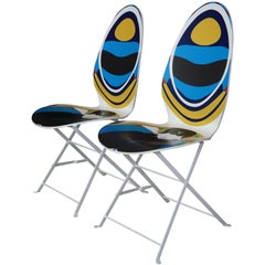 "French Christian Lacroix Design Pair of ""Haute Couture"" Chairs"