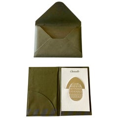 French Christofle Silver Plated Peace Egg Book Page Marker with Case, New
