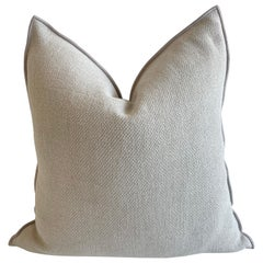 French Ciment Linen Accent Pillow