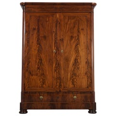 Circa 1780 French Louis Philippe Style Double Door Armoire