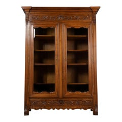 19th Century Spanish Style Two Doors Bookcase