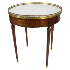 French Circular Marble-Topped Lamp Table