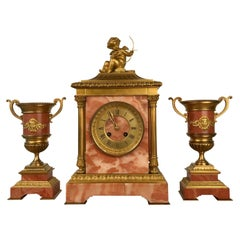 French Clock Garniture de Cheminee by Etienne Maxant