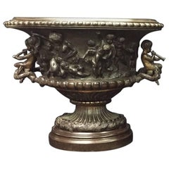 French Clodion Style Oval Bowl with Cherub Handles