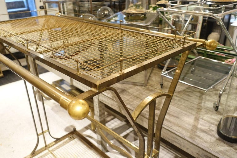 French Clothes Rack/Boutique Display/Shelves-Brass In Good Condition In Copenhagen K, DK