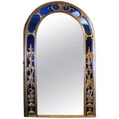 French Cobalt Blue Framed Mirror
