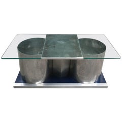 French Cocktail Table with Swivel Top by Francois Monnet from 1970s