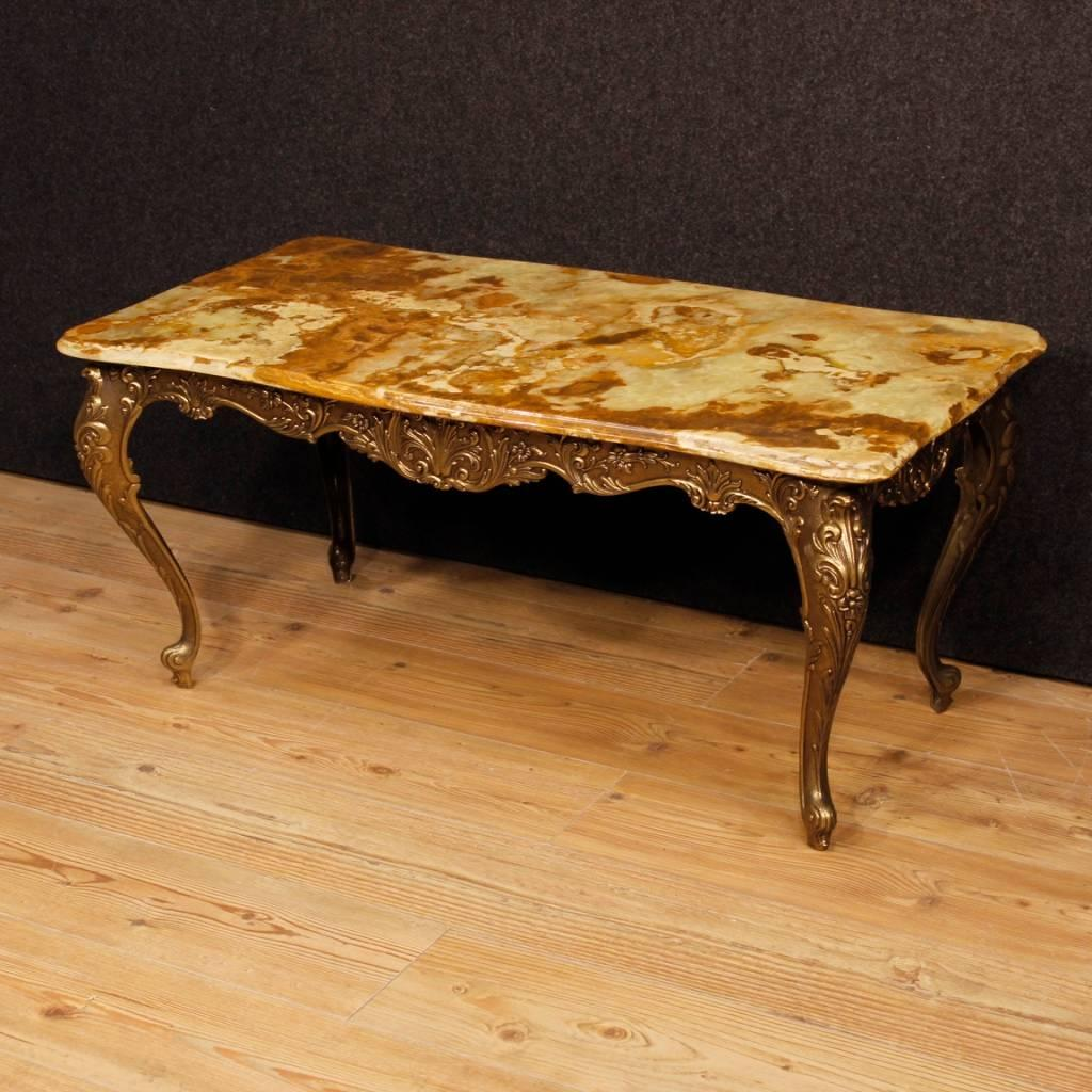 20th Century French Coffee Table. Furniture In Bronzed And Chiseled Iron Of  Excellent Quality And
