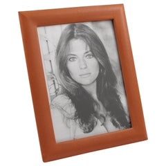French Cognac Leather Picture Frame