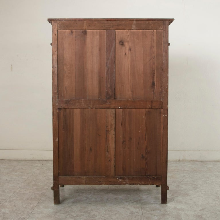 Early 20th Century French Colonial Style Faux Bamboo Pitch Pine Armoire Cabinet, circa 1900 For Sale