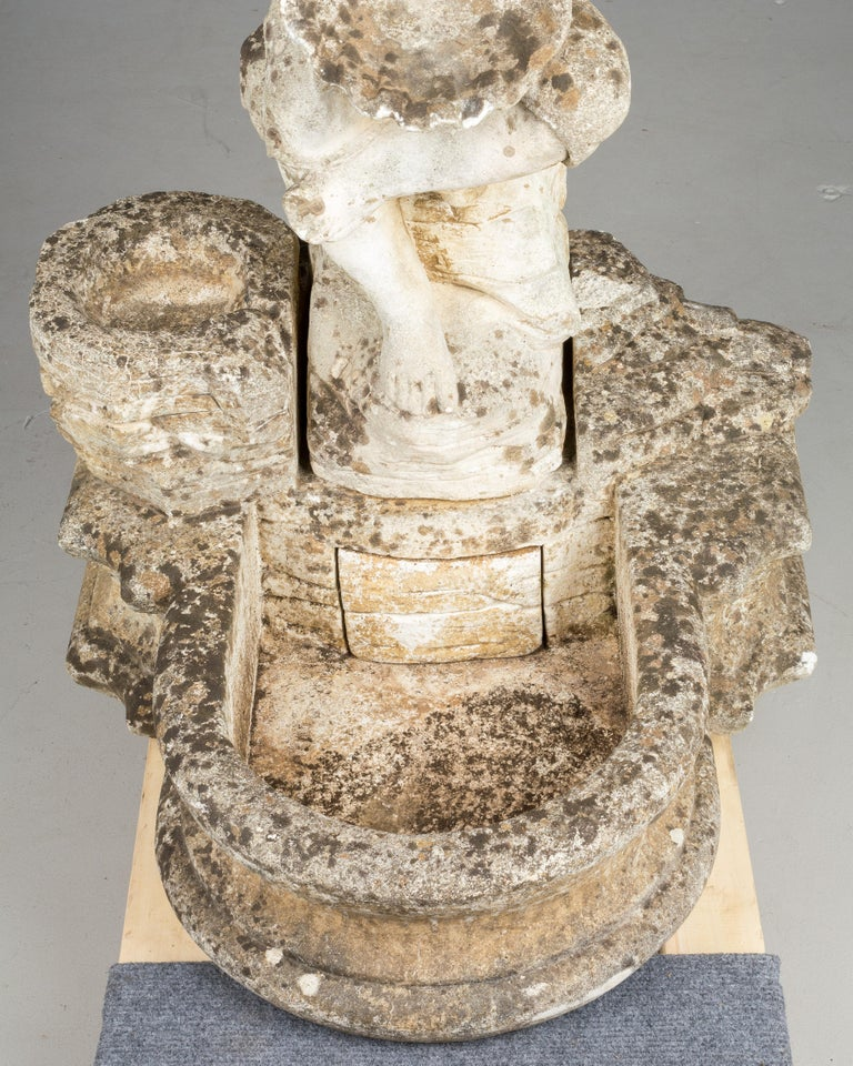 French Composite Stone Garden Fountain For Sale 7