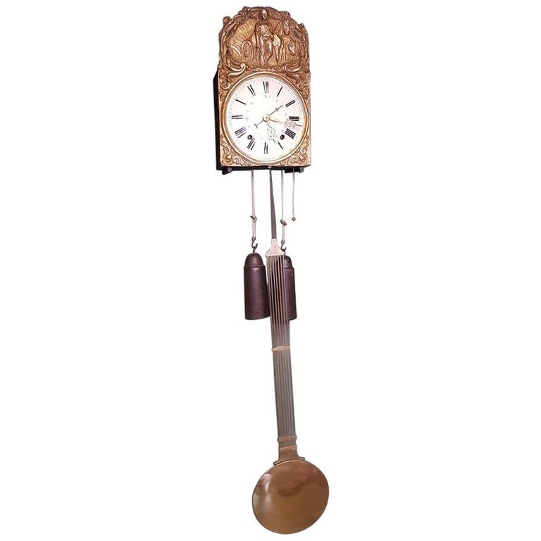 French Comtoise with Banjo Pendulum and 8 Day Timepiece, circa 1870 For Sale