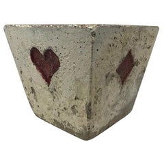 French Concrete Card Suit Planter