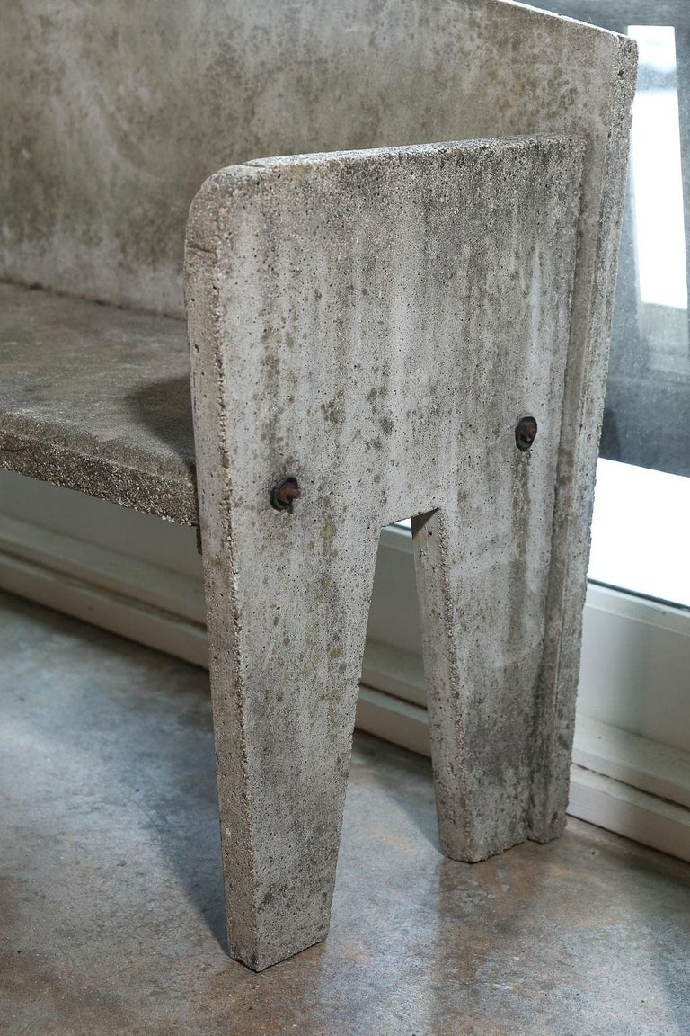 Prime French Concrete Garden Bench At 1Stdibs Dailytribune Chair Design For Home Dailytribuneorg