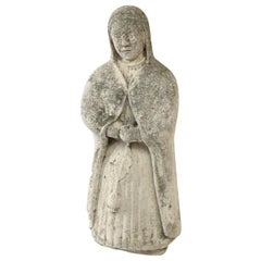 French Concrete Nun Statue
