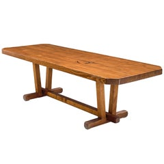French Constructive Dining Table in Pine Wood