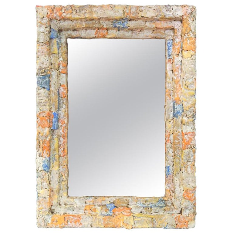 "French Contemporary Mirror, ""Composition"" by Pascal & Annie For Sale"