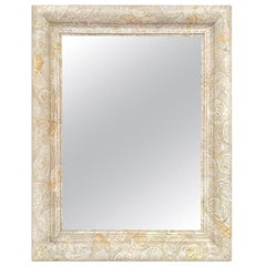 "French Contemporary Mirror, ""Feutré"" by Pascal & Annie"