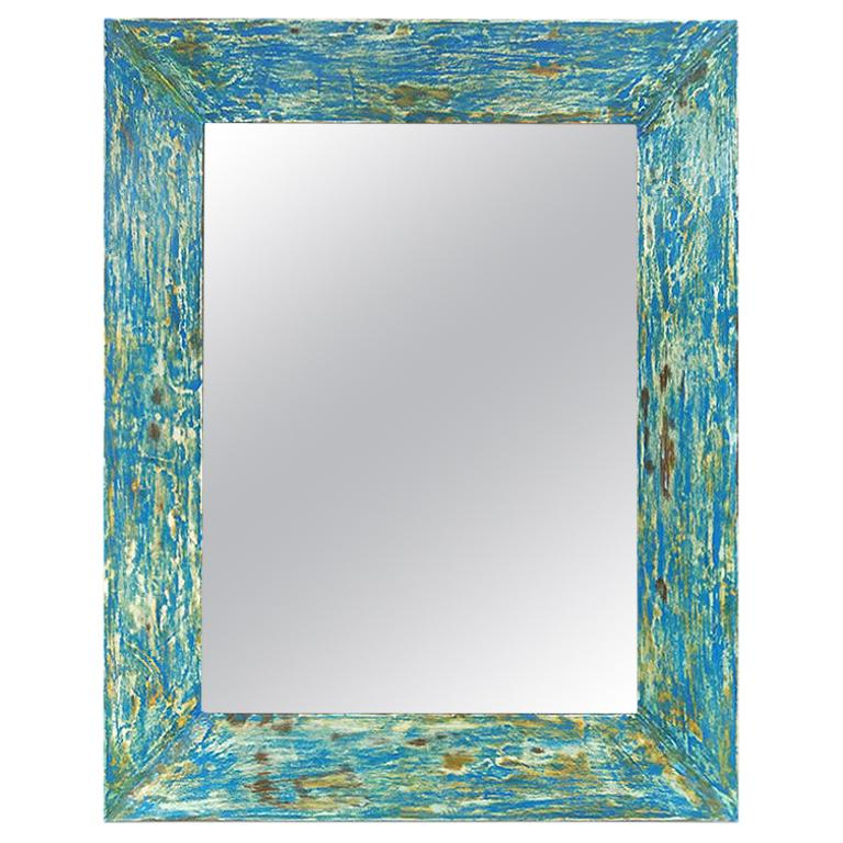 """French Contemporary Mirror, """"Ocean"""" by Pascal & Annie"""