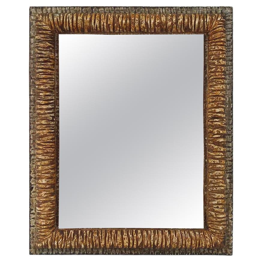 """French Contemporary Mirror, """"Relief"""" by Pascal & Annie"""