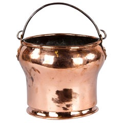 Shapely French Copper Bucket, Late 19th Century