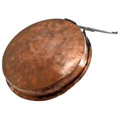 French Copper Jelly Pan, Antique