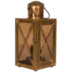 French Copper Lantern, Late 1800s