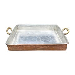 French Copper Roasting Pan