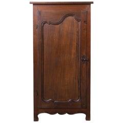French Corner Cabinet Louis XV Style, Oak Late 19th Century