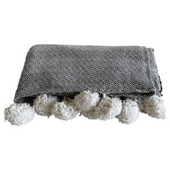 French Cotton King Size Throw with Tassels