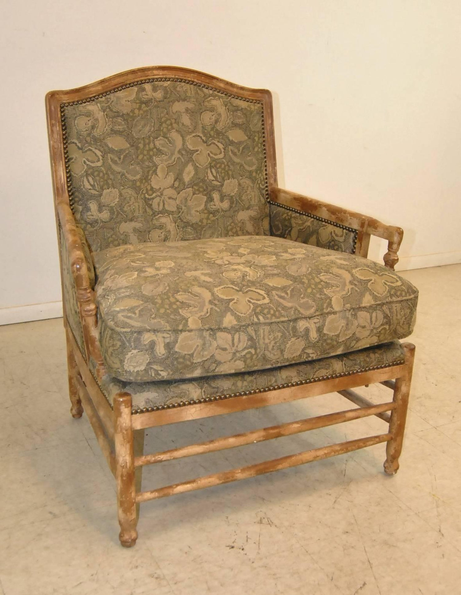 French country bergere style armchair by isenhour furniture for sale at 1stdibs