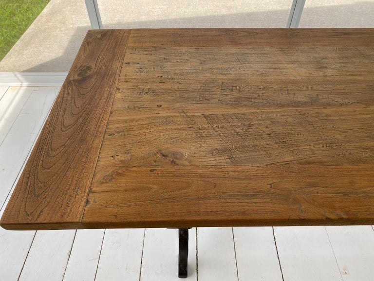 French Country Cafe Bistro Dining Table For Sale 4