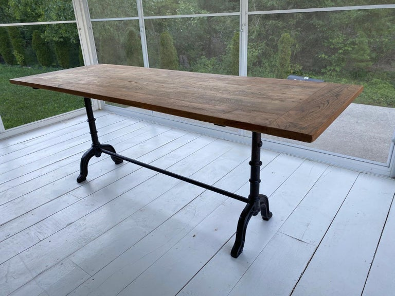French Country Cafe Bistro Dining Table For Sale 7