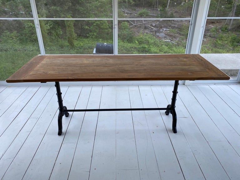 French Country Cafe Bistro Dining Table For Sale 8