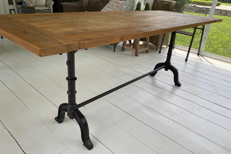 Hand-Crafted French Country Cafe Bistro Dining Table For Sale