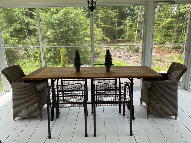 French Country Cafe Bistro Dining Table In Good Condition For Sale In Great Barrington, MA
