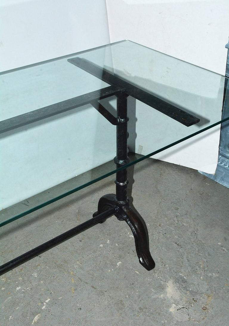 20th Century French Country Cafe Bistro Dining Table For Sale