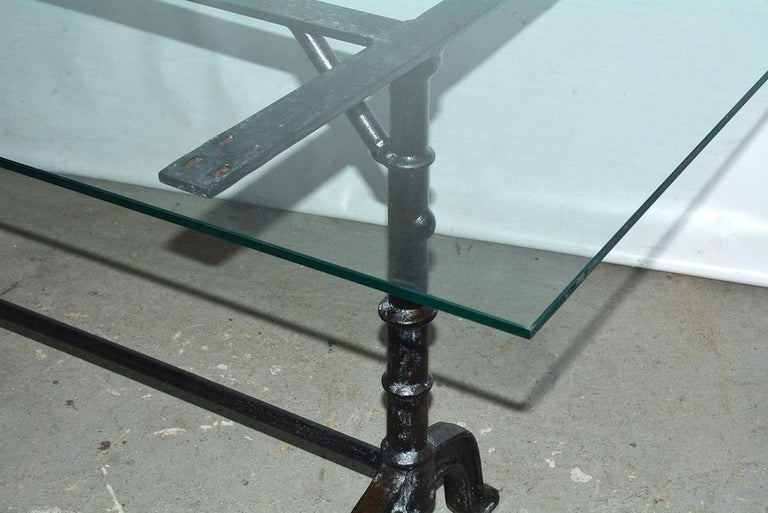 Iron French Country Cafe Bistro Dining Table For Sale