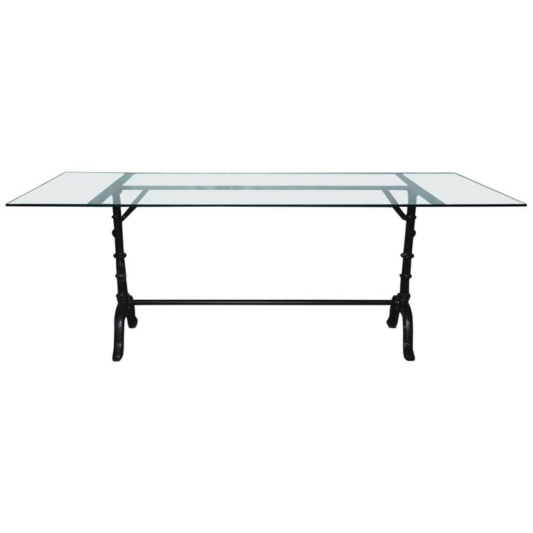 French Country Cafe Bistro Dining Table For Sale