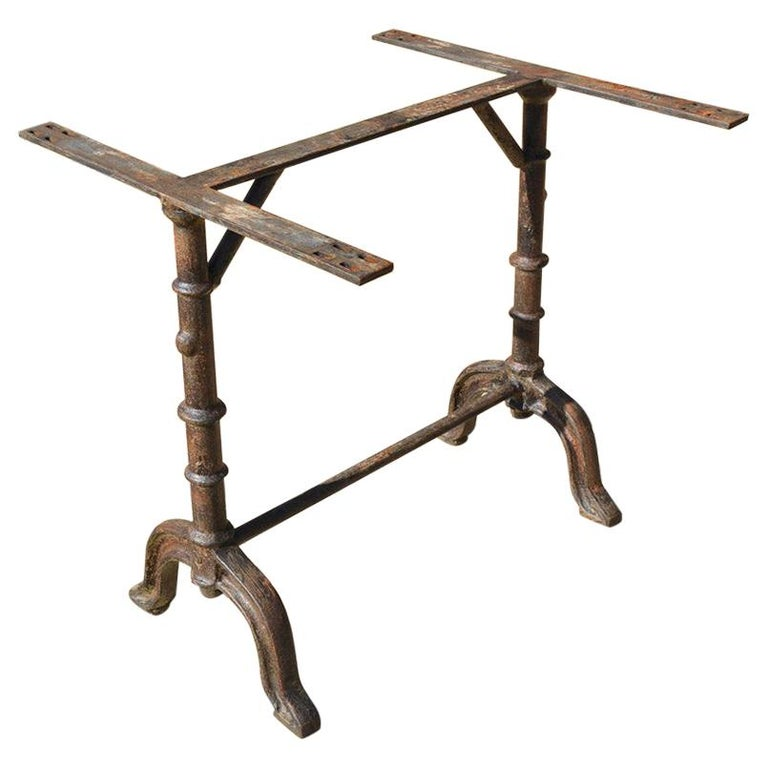 French Country Cafe Bistro Garden Dining Table Base For Sale