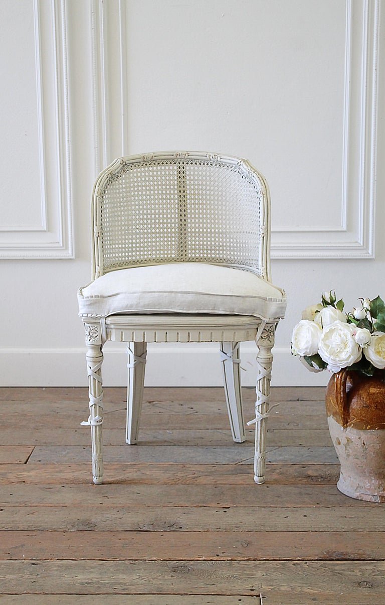 French Country Cane Back Vanity Chair At 1stdibs