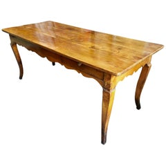 French Country Cherrywood Farm Table, 18th Century