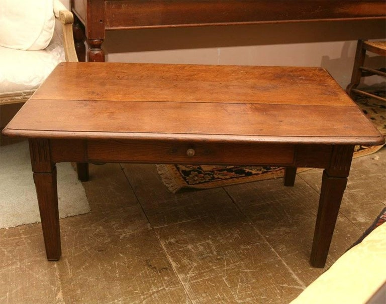 Rustic French Country Coffee Table In Good Condition For Sale In Great Barrington, MA