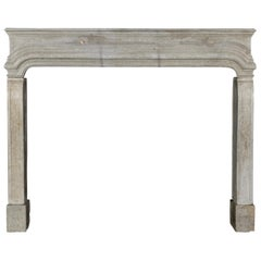 French Country Louis XIV Antique Fireplace Surround