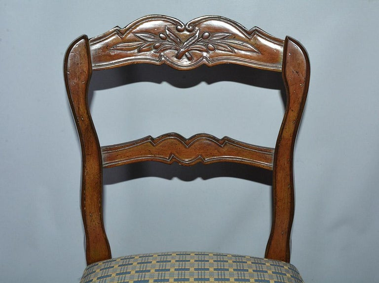 20th Century French Country Louis XV Style Counter/Bar Stools For Sale