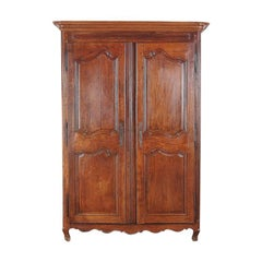 French Country Oak Armoire