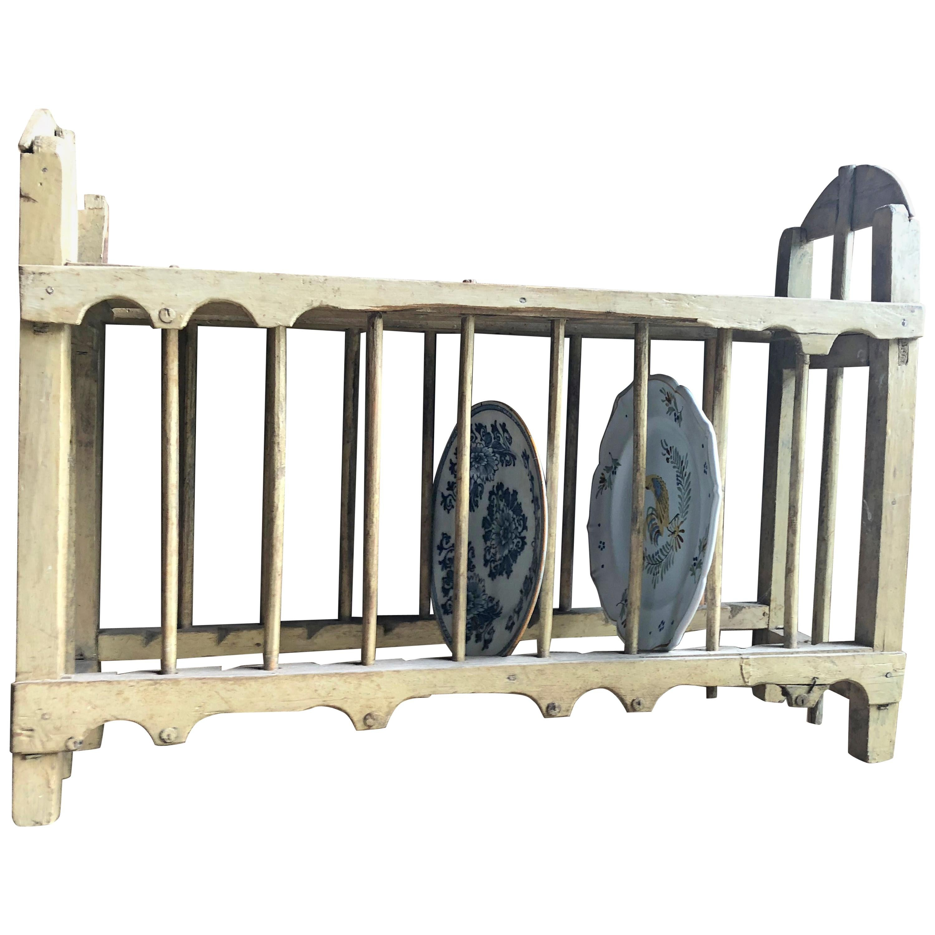 French Country Plate Drying Rack, 18th Century