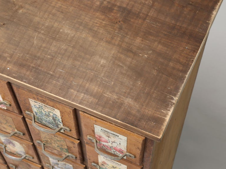 French Country Store 104 Drawer Seed Cabinet In Original