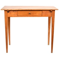 French Country Style Fruitwood One Drawer Work Table or Desk, circa 1840